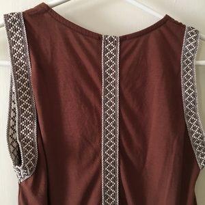Tops - Brown embellished top